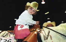 Maddie and Poco Rose Ross in leadline